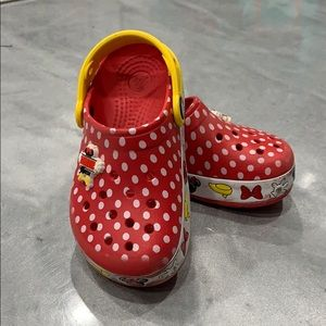 Excellent used condition Disney Crocs sz C 11